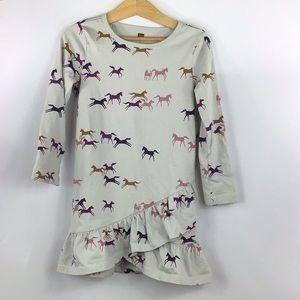 Child's Tea Collection Horse Ruffle Dress 5